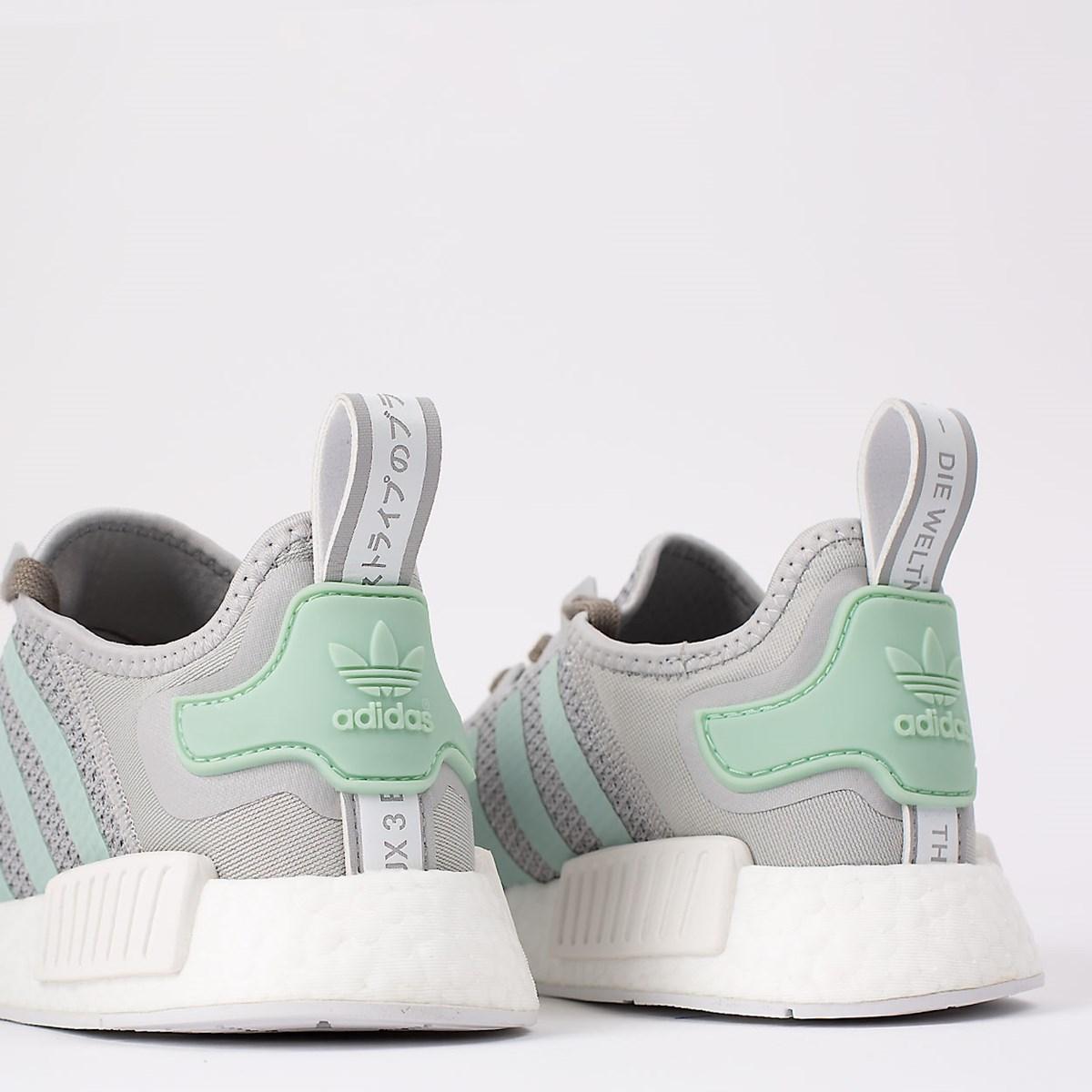 Tênis adidas NMD_R1 Grey Two Blush Green FV9152