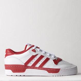 Tênis Adidas Rivalry Low Branco Vermelho EE4967