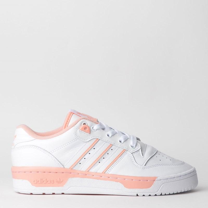 Tênis Adidas Rivalry Low W Branco Rosa EE5933