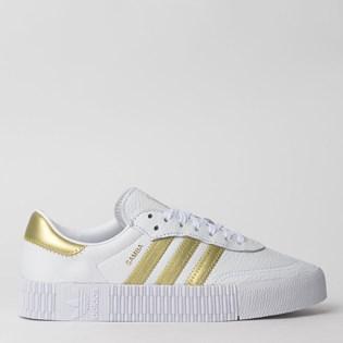 Tênis Adidas Sambarose W Branco Dourado EE4681