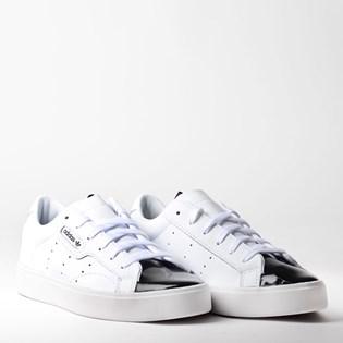 Tênis Adidas Sleek W Branco Preto EE4709