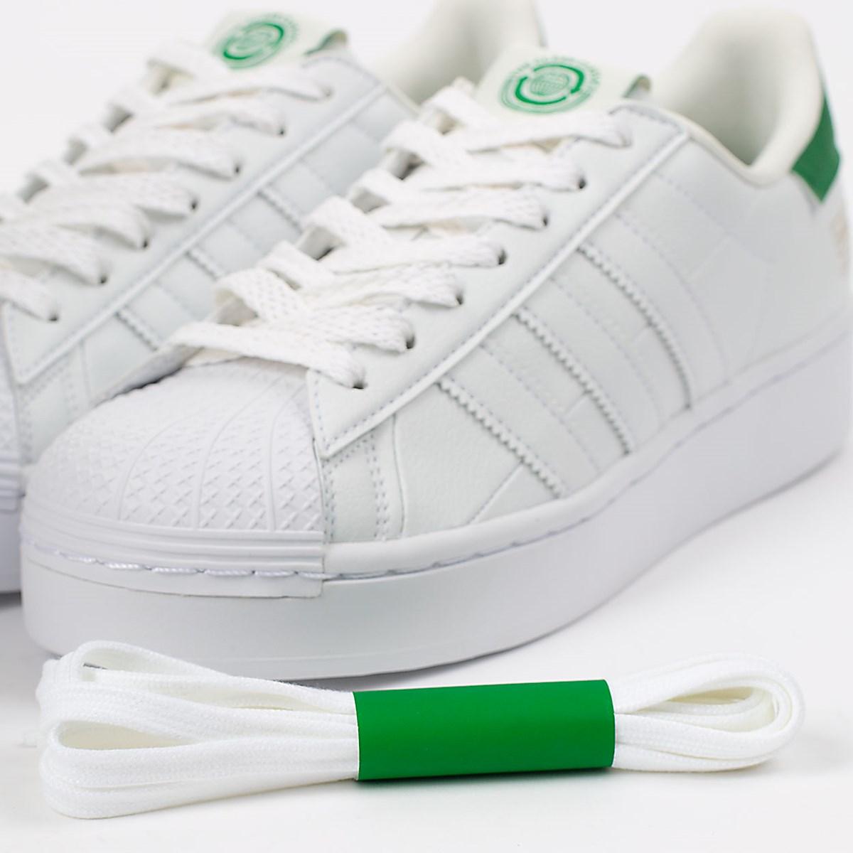 Tênis adidas Superstar Bold Vegan White Green FY5481