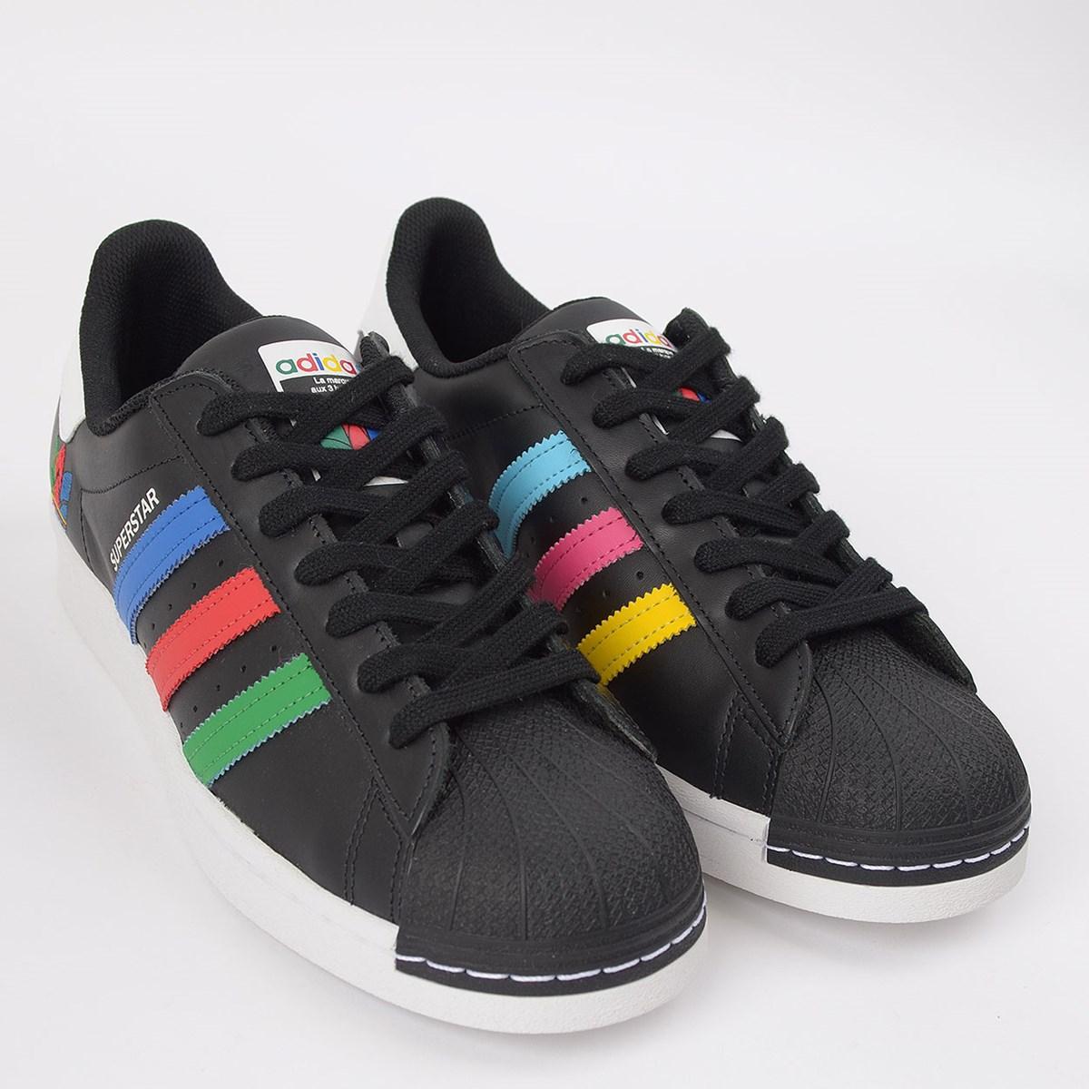 Tênis adidas Superstar Core Black Green FU9520