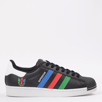 Tênis adidas Superstar Core Black Green FU9520