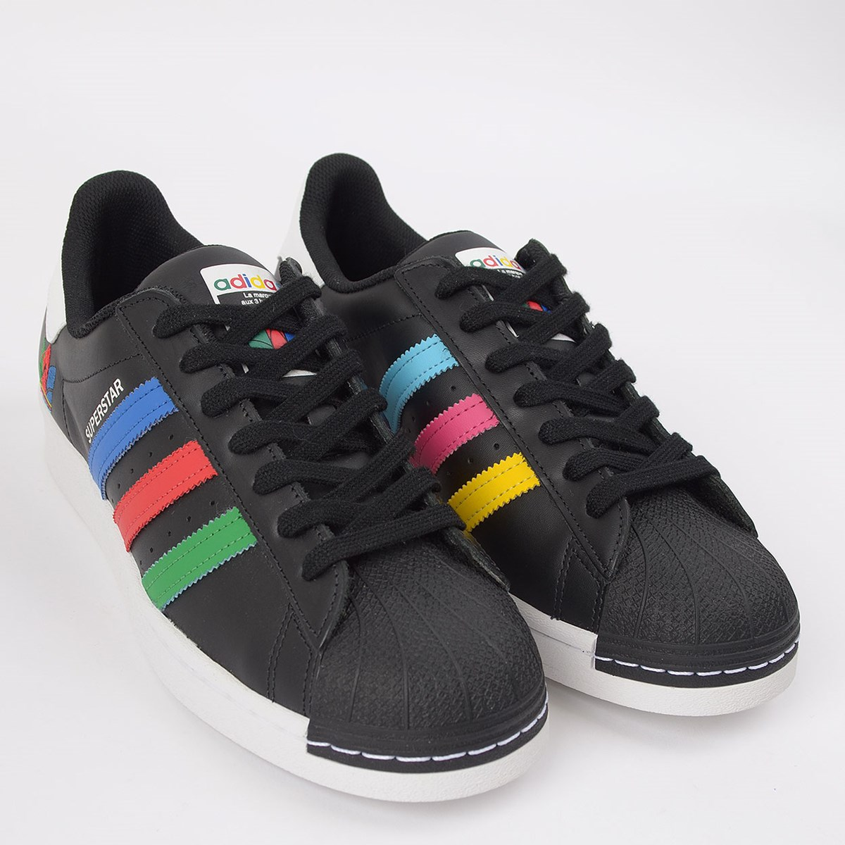 Tênis adidas Superstar Core Black Green FW5235