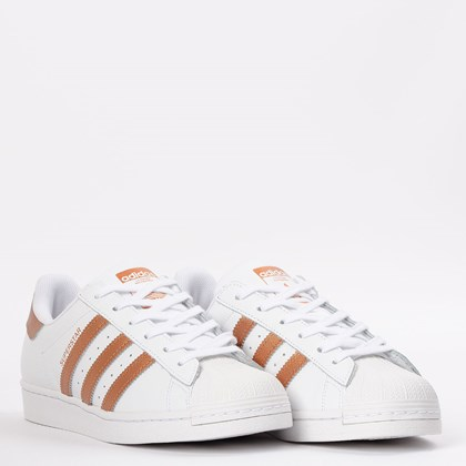 Tênis adidas Superstar Ftwr White Copper Metallic FX7484