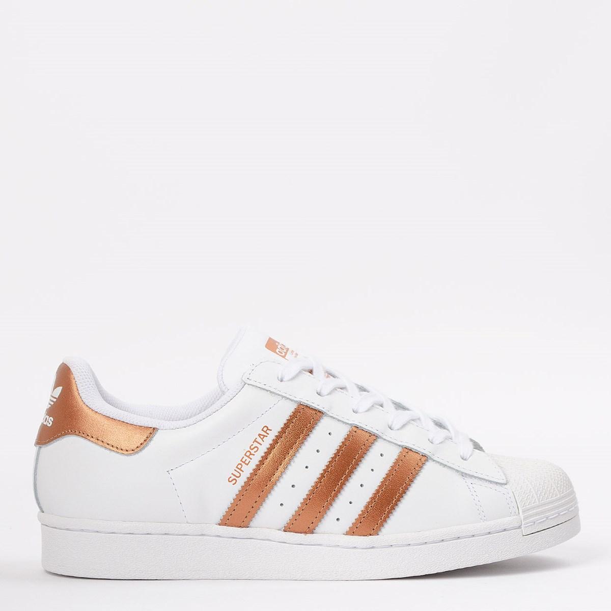 Tênis adidas Superstar Ftwr White Copper Metallic FX7484