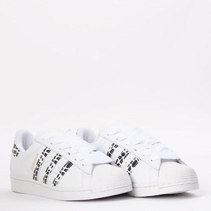 Tênis adidas Superstar Ftwr White Gold Metallic FV3452