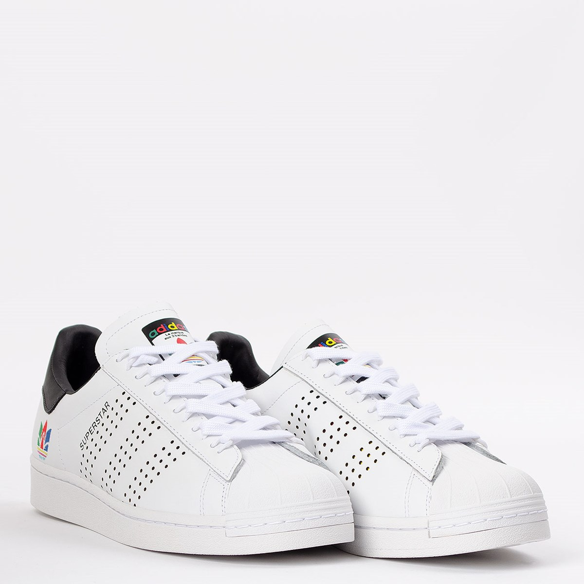 Tênis adidas Superstar Ftwr White Green Core Black FW5388