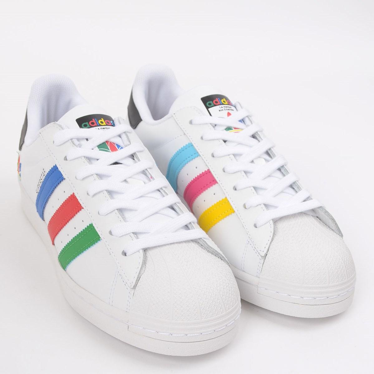 Tênis adidas Superstar Ftwr White Green FU9521
