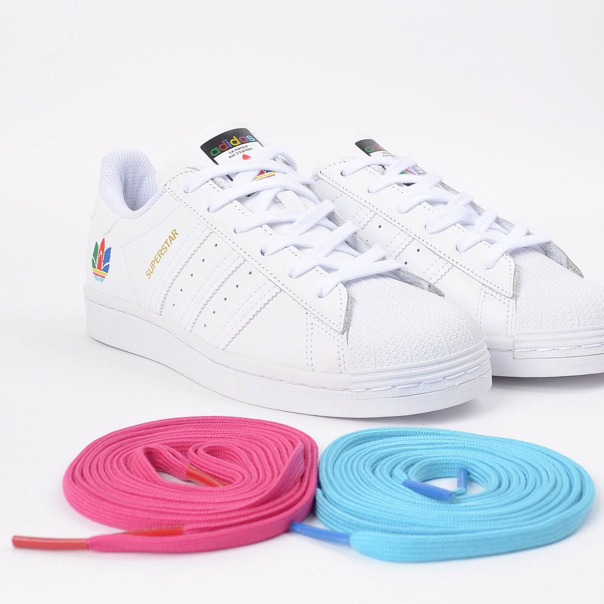 Tênis adidas Superstar Ftwr White Real Magenta FW3694