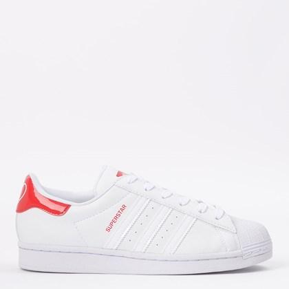 Tênis adidas Superstar Ftwr White Scarlet FW0817