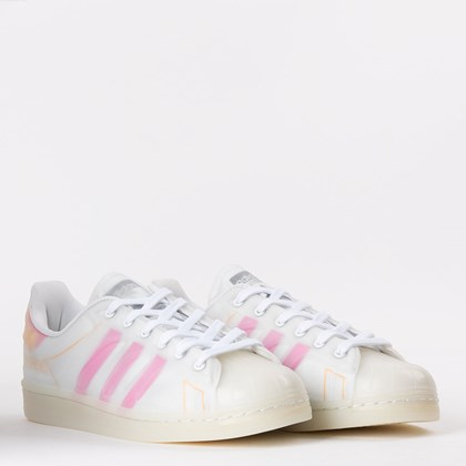 Tênis adidas Superstar FutureShell Cloud White Screaming Pink FY7357