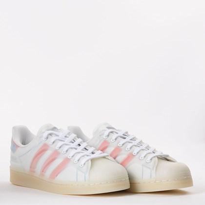Tênis adidas Superstar FutureShell Cloud White Semi Solar Red FX5544