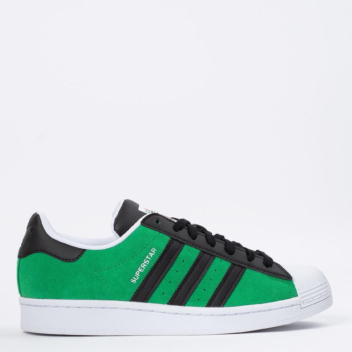 Tênis adidas Superstar Green Core Black FW7844