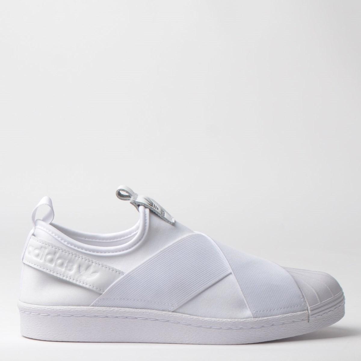 dividir Principiante capital  Tênis Adidas Superstar Slip On W Branco Branco S81338 na Loja Virus