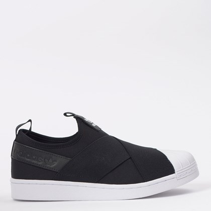 Tênis adidas Superstar Slip On W Core Black EW2053