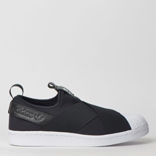 Tênis Adidas Superstar Slip On W Preto Branco S81337