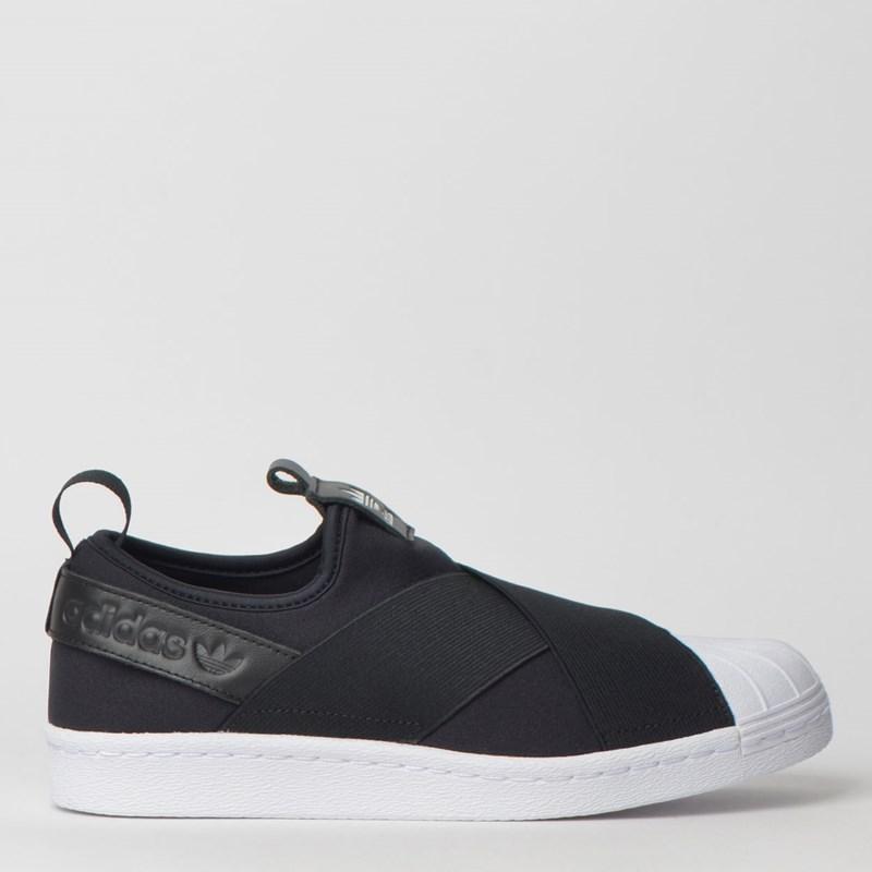 Tênis Adidas Superstar Slip On W Preto Branco S81337