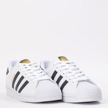 Tênis adidas Superstar Vegan Ftwr White Core Black EX9582