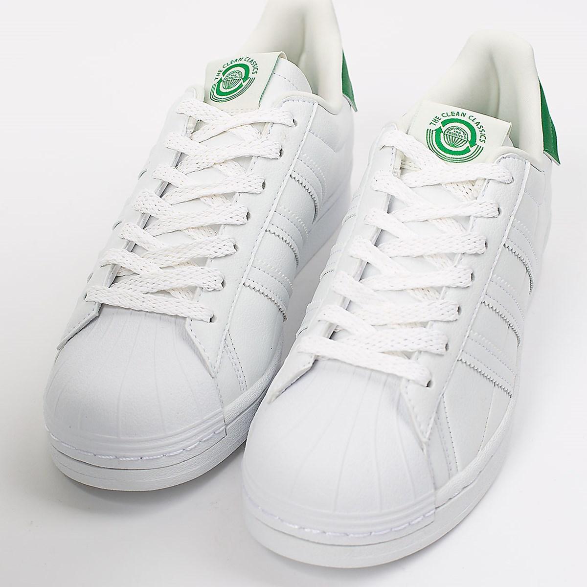 Tênis adidas Superstar Vegan White Green FY5480
