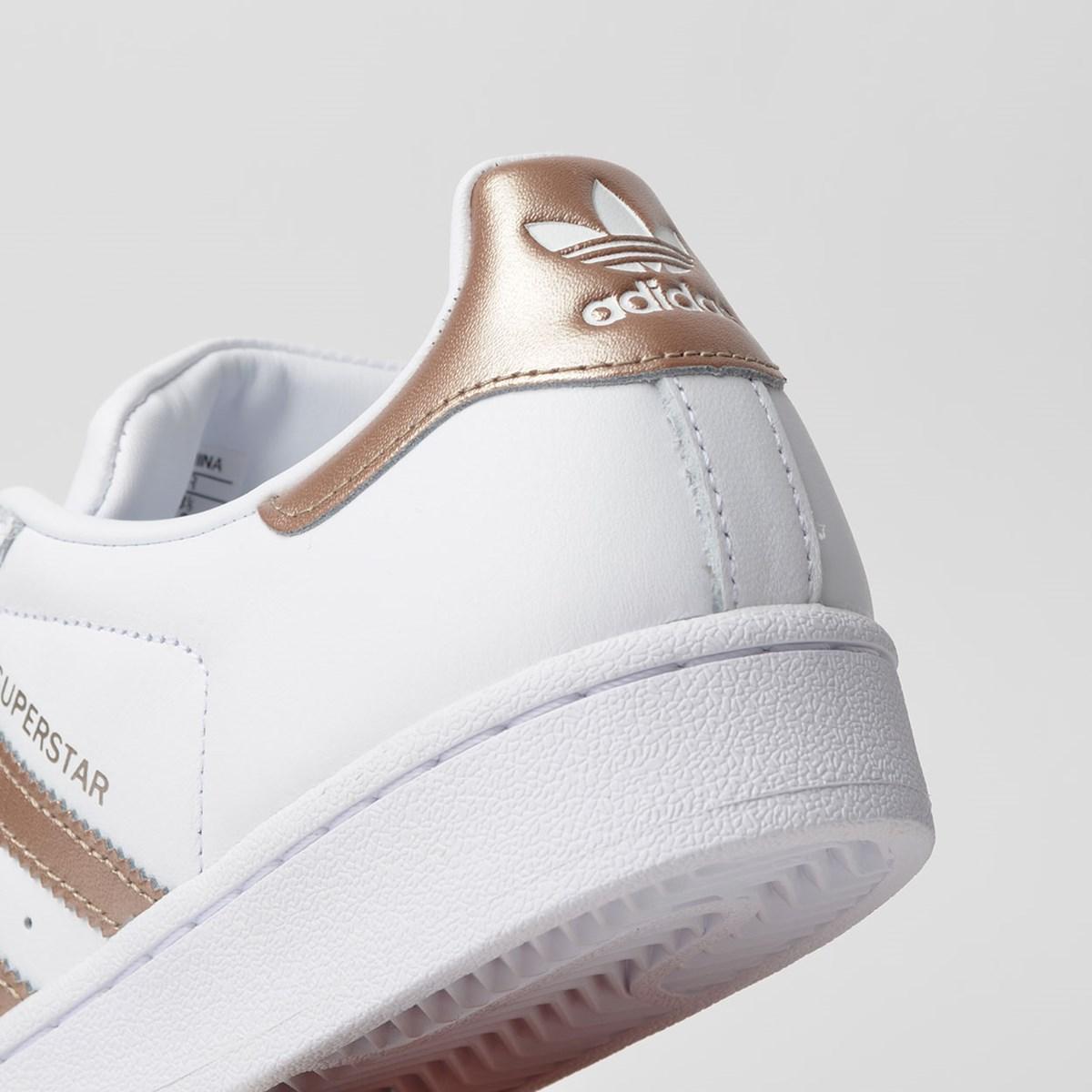 Tênis Adidas Superstar W Branco Cobre CG5463