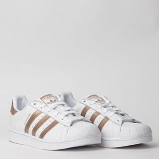 Tênis Adidas Superstar W Branco Cobre EE7399
