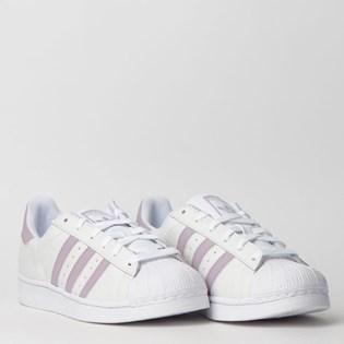Tênis Adidas Superstar W Branco Lilas DB3347