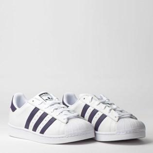 Tênis Adidas Superstar W Branco Roxo DB3346