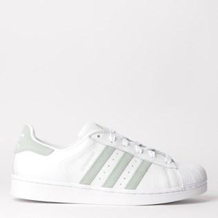 Tênis Adidas Superstar W Branco Verde EE7401