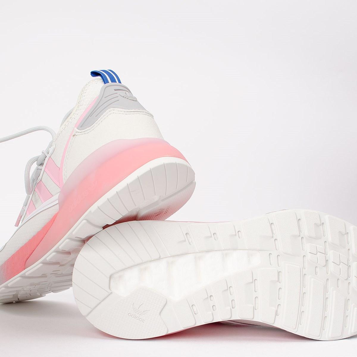 Tênis adidas ZX 2K Boost Nasa Crystal White True Pink FZ3900
