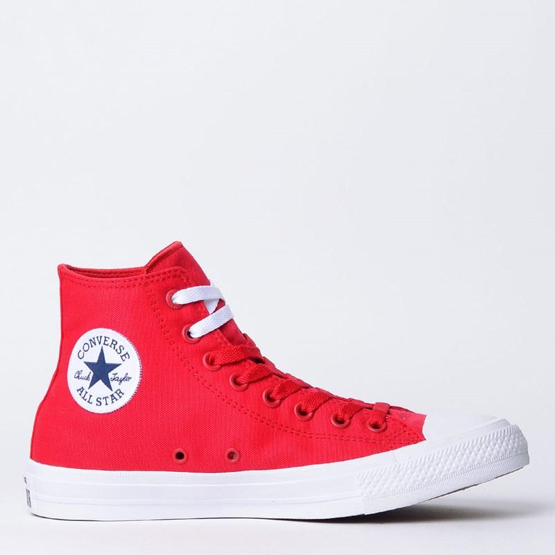 Tênis Converse All Star Chuck Taylor II Hi Red White 155313