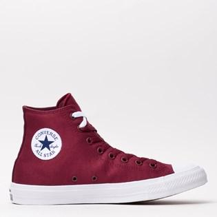 Tênis Converse All Star CT As Chuck Taylor II Hi Deep Bordeaux White 153050