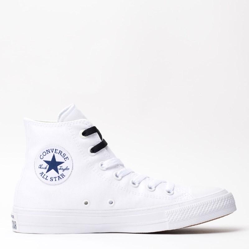 ab18d43a64f Tênis Converse All Star CT As Chuck Taylor II Hi White Navy 155247 ...