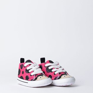 Tênis Converse All Star Joaninha My First All Star Kids Rosa Preto CK06690001