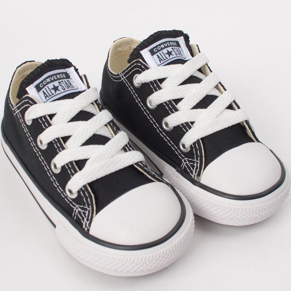 Tênis Converse All Star Kids CT As Core Ox Preto CK00010002