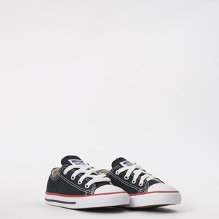 Tênis Converse All Star Kids CT As Core Ox Preto Vermelho CK00010007