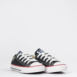 Tênis Converse All Star Kids CT As Core Ox Preto Vermelho CK00020007