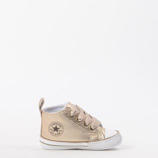 Tênis Converse All Star Kids CT As My First All Star Hi Ouro Branco CK03180001