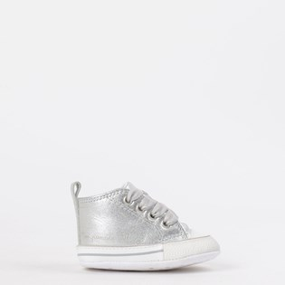 Tênis Converse All Star Kids CT As My First All Star Hi Prata Branco CK03180002