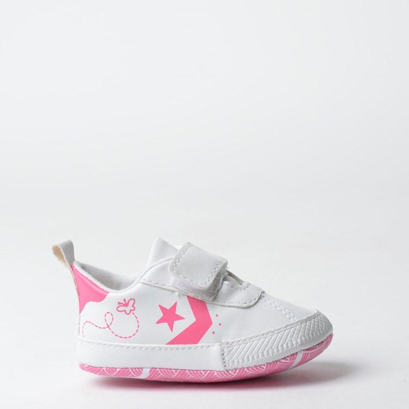 Tênis Converse Breakpoint Crib Kids Branco Rosa CK06570002
