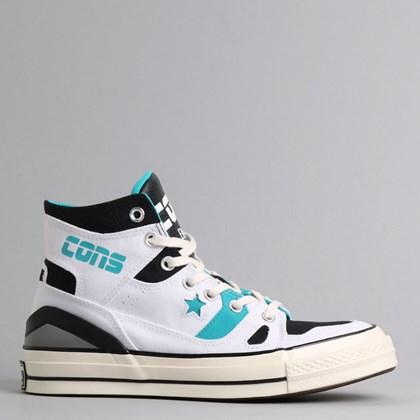 Tênis Converse Chuck 70 E260 Hi White Black Rapid Teal 167056C