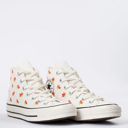 Tênis Converse Chuck 70 Hi Floral Embroidered Amendoa Preto CT16640002