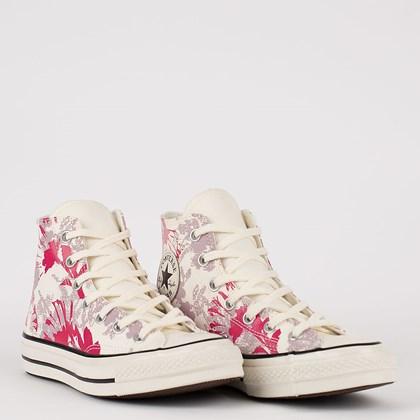 Tênis Converse Chuck 70 Hi Hybrid Floral Amendoa Pink Fluor CT17560002
