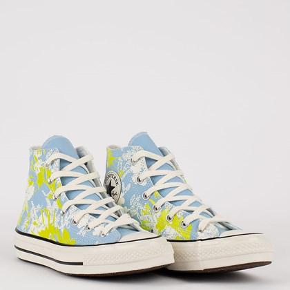 Tênis Converse Chuck 70 Hi Hybrid Floral Azul Bebe Amarelo Citrico CT17560001