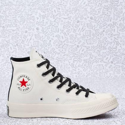 Tênis Converse Chuck 70 Hi Keith Haring Egret Black Red 171858C
