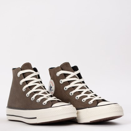Tênis Converse Chuck 70 Hi Leather Marrom CT15630002