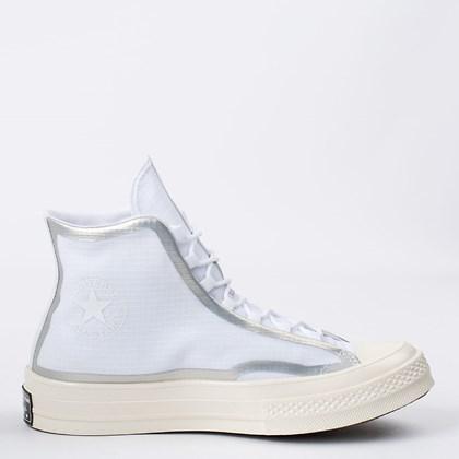 Tênis Converse Chuck 70 Hi Metallic Tape Seam White Egret Black 170767C