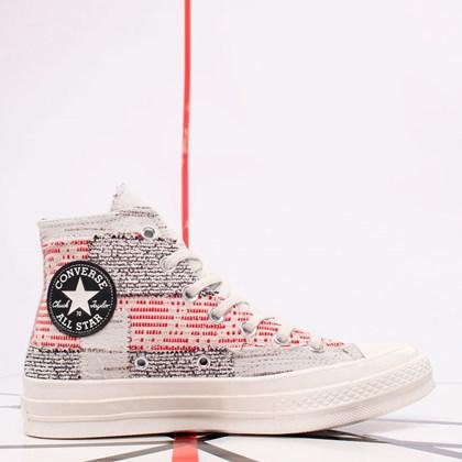 Tênis Converse Chuck 70 Hi Patchwork Nu Madic Twill Light Gray Egret 170059C