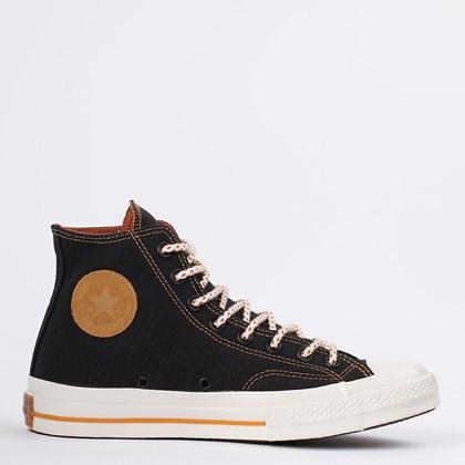Tênis Converse Chuck 70 Hi Preto Amarelo Mostarda CT17310001